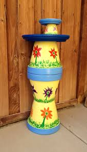169 best clay pot bird baths u0026 feeders images on pinterest bird