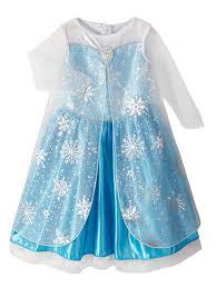 Elsa Halloween Costumes Disney Frozen Infant Girls Elsa Costume Shimmery Blue Dress 12 18
