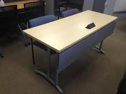 Teknion Conference Table Teknion Training Tables Built In Power Silver Legs