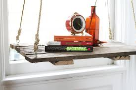 Diy Side Table How To Recycle A Pallet Into A Hanging Side Table Hello Glow