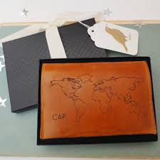 Leather Map Personalised Leather Passport Holder With World Map By Stabo