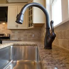Stainless Steel Faucets Kitchen Dark Granite On Island With Stainless Steel Farm Sink And