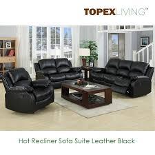 Modern Recliner Chair Recliner Sofa Loveseat Recliners Chair Leather Black Sofa Set