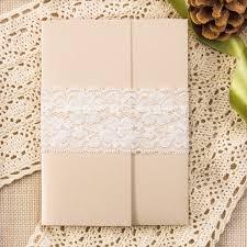 affordable pocket wedding invitations affordable classic flower lace pocket wedding invitation