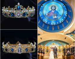 orthodox wedding crowns orthodox crowns etsy