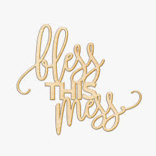 bless this mess wood sign wood sign art family home wooden sign