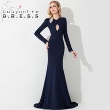 navy blue formal evening dress long sleeves fashion tips