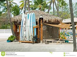 surf rental shop on kona beach on hawaii big island editorial