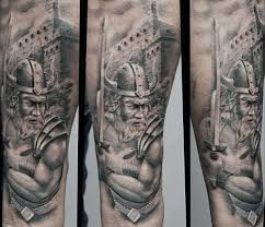 100 warrior tattoos for men battle ready design ideas