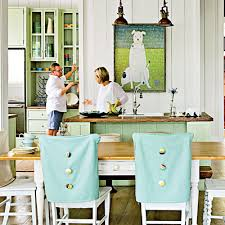 Diy Dining Room Chair Covers Dining Rooms With A Coastal Touch Chair Covers Dining Chairs