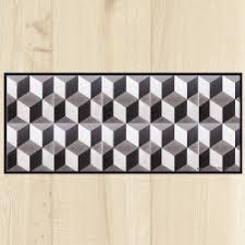 tapis cuisine original tapis de cuisine carreaux ciment géométrique carreaux