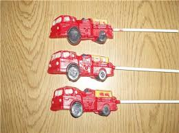 Lollipop Party Favors Fire Truck Chocolate Lollipops Birthday Party Favors