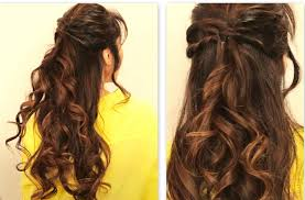 prom hairstyles for long hair half up half down straight