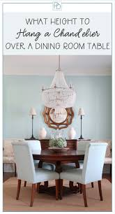 the basic rules for how high to hang a light fixture over your