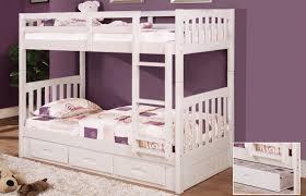 Bateman House Furniture Solid Wood Bunk Beds  Furniture Tweed - White bunk bed with mattress