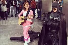 Pink Ranger Halloween Costume Power Rangers U0027 Star Amy Jo Johnson Performs Music Pink Ranger