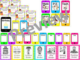 Classroom Theme Decor Middle Grades Maven 21st Century Classroom Technology Themed Decor