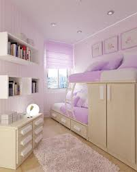 bedroom endearing purple theme using walnut frame bunk bed with