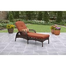 Outdoor Chaise Lounge Better Homes And Gardens Azalea Ridge Chaise Lounge Walmart Com