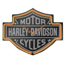 harley davidson lighted signs harley neon clocks