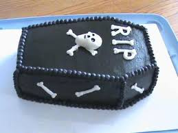 Halloween Coffin Cake by Over The Hill Coffin Cake Cakecentral Com