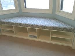 Making A Bay Window Seat - bench amazing small bay window bench with grey padded and wall