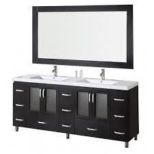 Acrylic Vanity Table Design Element Stanton 72 In W X 22 In D Vanity And Mirror In