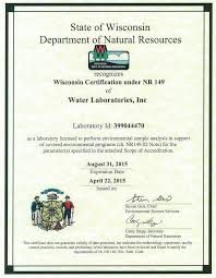 real estate related testing water laboratories inc