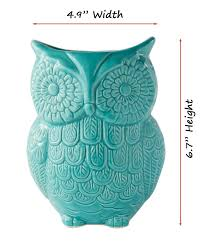 amazon com owl utensil holder by comfify decorative ceramic