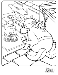 club penguin coloring pages printable penguin coloring pages