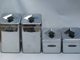 kitchen canisters sets 50s 60s vintage kitchen canisters mod silver chrome canister set