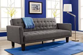 amazon com dhp sienna sofa sleeper gray kitchen u0026 dining