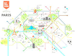 Map Of Central Europe by Central Paris Metro Map In Of Central Paris With Landmarks