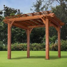 10 u0027 x 10 u0027 wooden pergola for patios backyard discovery