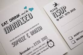 eat drink and be married invitations eat drink and be married wedding invitation sle set on luulla