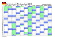 Kalender 2018 Hamburg Zum Ausdrucken Schulkreis De Schulferien Kalender Niedersachsen 2018 Feiertage Ferien