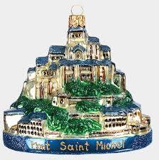 le mont saint michel normandy france polish mouth blown glass