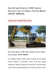 new holland kobelco e135 b crawler excavator service repair factory m u2026