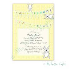 printable baby shower invitation template bunny
