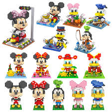 loz disney diamond blocks mickey minnie donald duck daisy