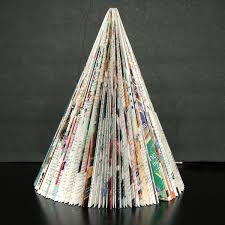 tree from an up cycled magazine or book marilou strait