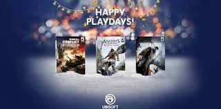 ubisoft announces year 3 ubisoft gives 3 free through uplay during playdays