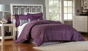Plum Bed Set Essential Home 7 Comforter Set Plum Geo