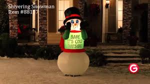 Animated Outdoor Christmas Decorations by Gemmy Animated Airblown Inflatable 88157 Shivering Snowman