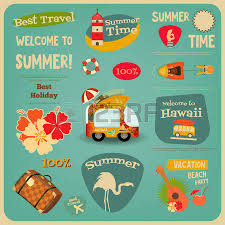 Hawaii best travel cards images Travel posters set vacation items in retro style vintage jpg