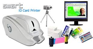 smart 50s edge to edge single sided desktop color cheap id card