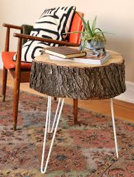 How To Make End Tables Out Of Tree Stumps by 17 Apart Over On Ehow Rustic Tree Stump Side Tables