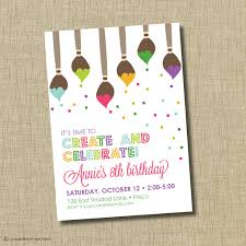 birthday invites awesome 10 art painting party invitations