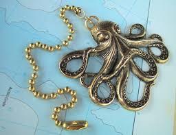 brass octopus fan pull steampunk fan pull nautical ceiling fan