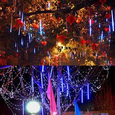 outdoor string lights rain aliexpress com buy multi color 30cm meteor shower rain tubes ac100